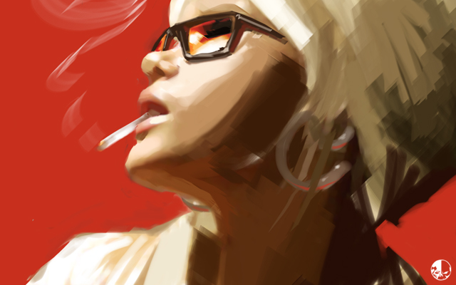 Looky speed painting - gril café salé